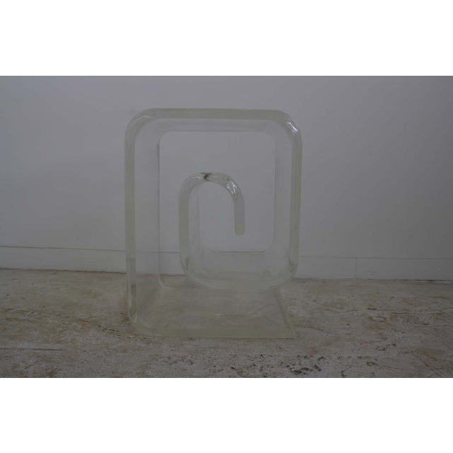 Image of Lucite Spiral Side Table