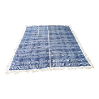 Blue Loom Woven Coverlet