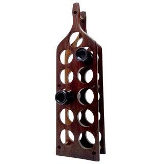 Mid-Century Modern Cocobolo Wine Rack
