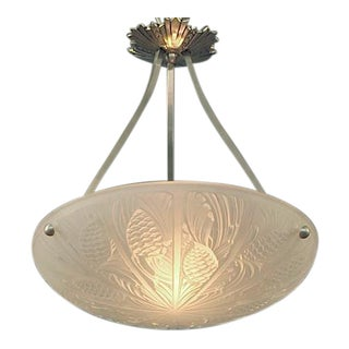 A French Art Deco Lighting Bowl with Pine Cone Motif
