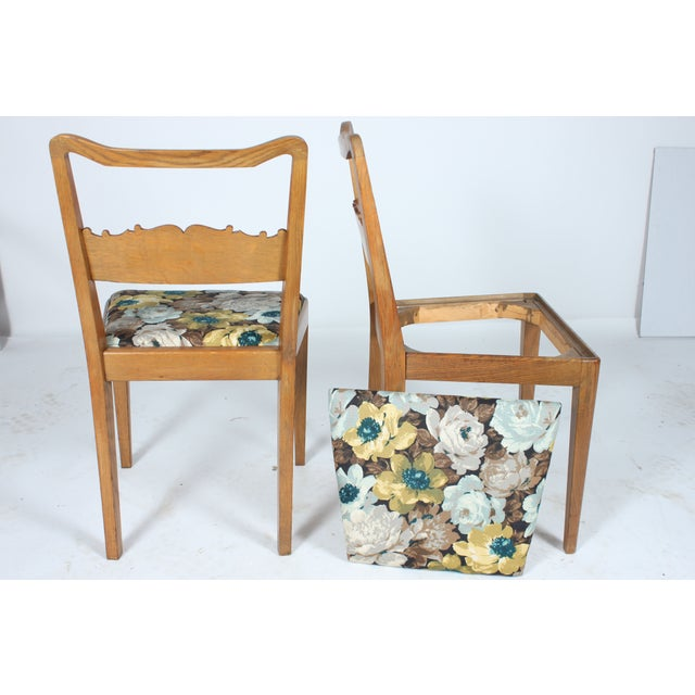 Swedish Floral Dining Chairs - Set of 4 - Image 3 of 3