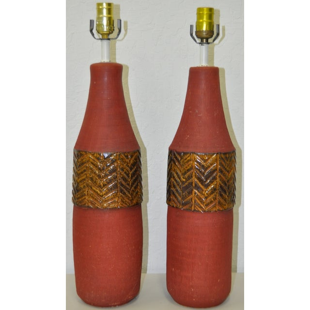 Vintage Italian Raymor Table Lamps C.1950's - Pair - Image 2 of 4