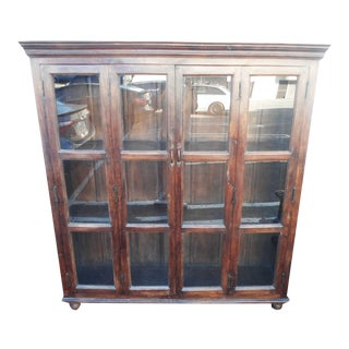 Wooden Glass Door Display Bookcase