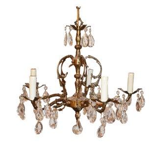 Antique Brass 5 Light Chandelier