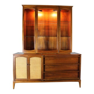 Lane Mid-Century Rhythm Lighted China Cabinet