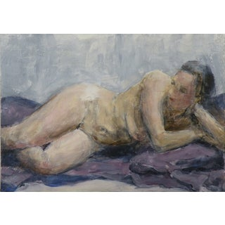 Reclining Female Nude Figure Study Painting