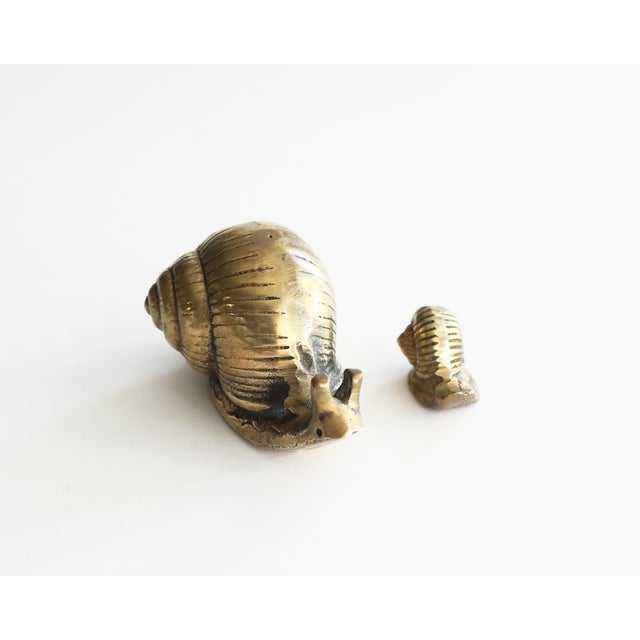 Image of Solid Brass Snails - Pair