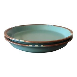 Dansk Mesa Turquoise Salad Plates - A Pair