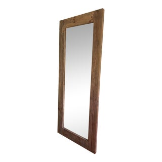 Wood Framed Full-Length Mirror