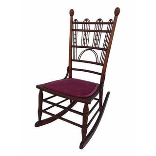 Antique Victorian Ball & Stick Rocking Chair