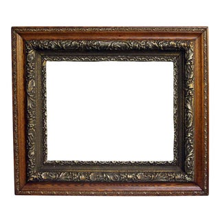 Ornate Wood & Metal Picture Frame