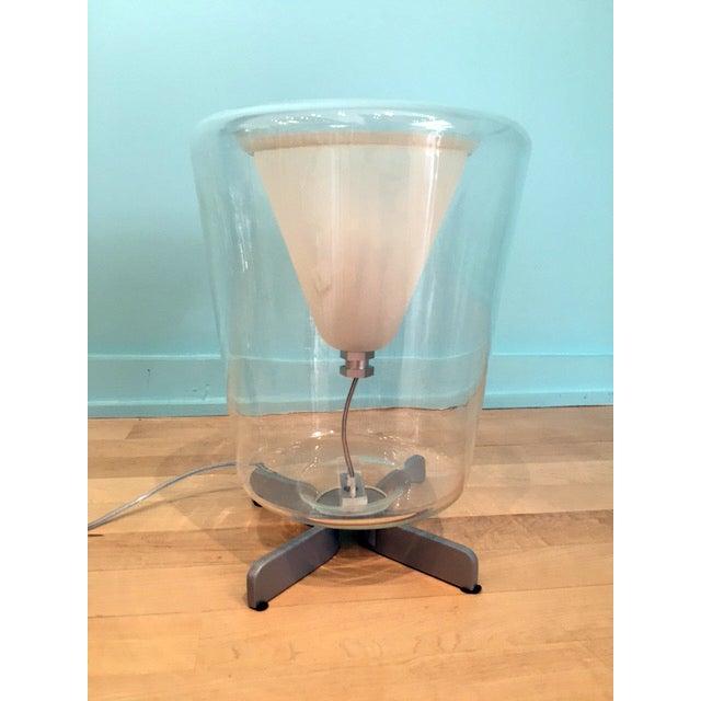 Transparent Oluce Lanterna Murano Glass Table Lamp - Image 2 of 6