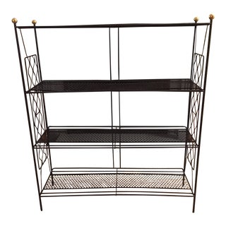 Mid-Century Atomic Black Wire Mesh Book Stand