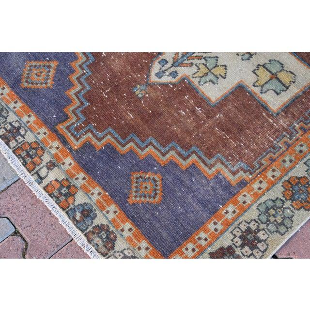 Turkish Handmade Vintage Pastel Pile Rug - 3′1″ × 4′9″ - Image 5 of 6