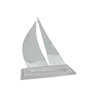 Lucite Sailboat Sculpture on Stand