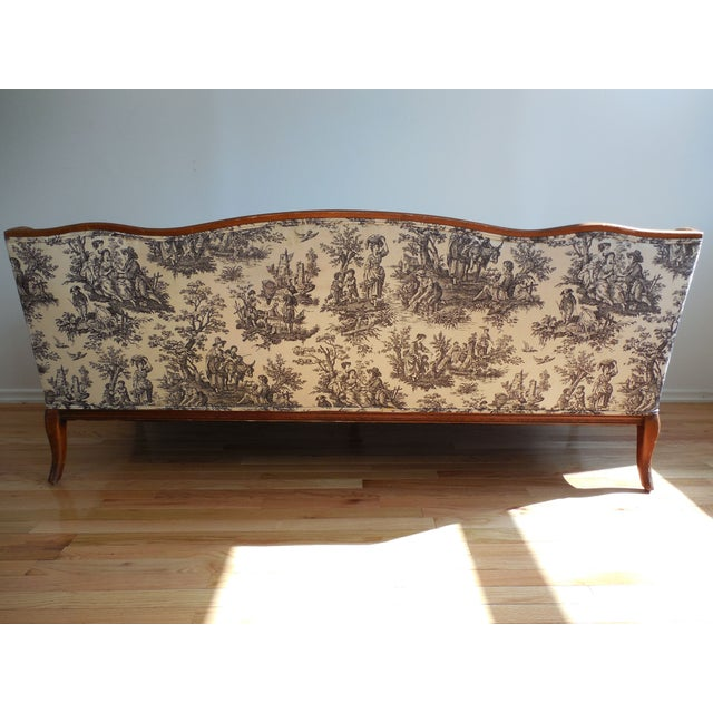 Toile De Jouy French Provincial Style Sofa Chairish