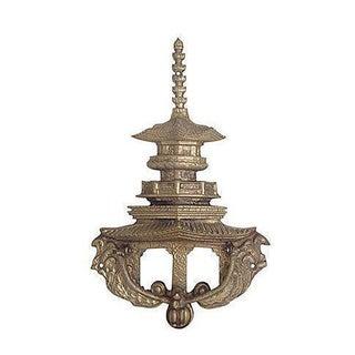 Oversize Brass Pagoda Door Knocker