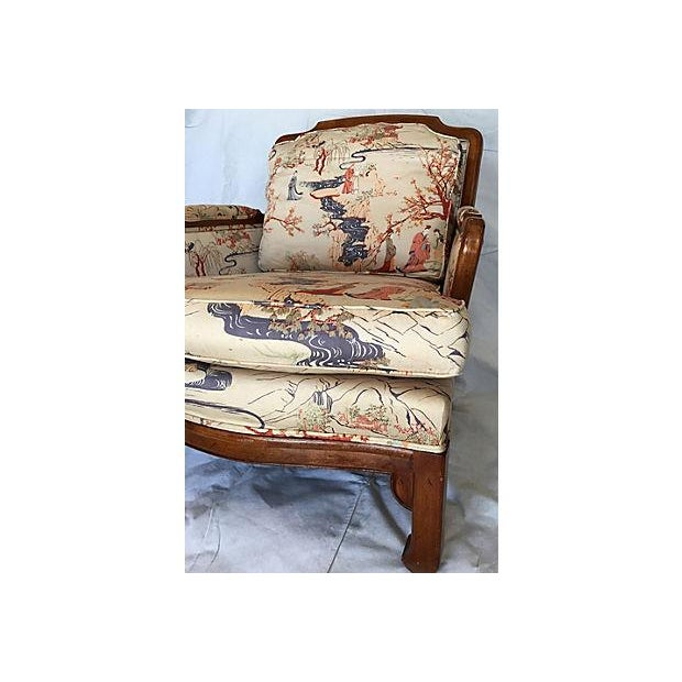 Vintage Chinoiserie Ming Style Wooden Chair - Image 4 of 7