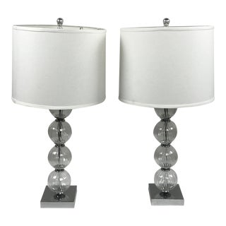 Glass Globe Table Lamps by Safavieh - A Pair