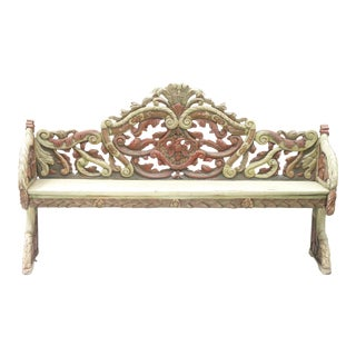 Carved Italian Bench