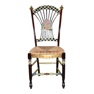 MacKenzie-Childs Floral Side Chair