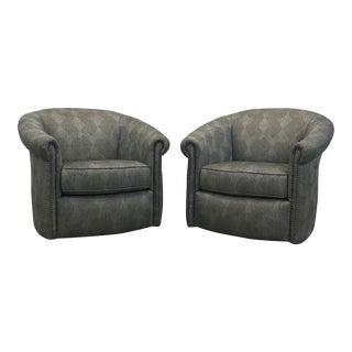 Marietta Swivel Glider Chairs - A Pair