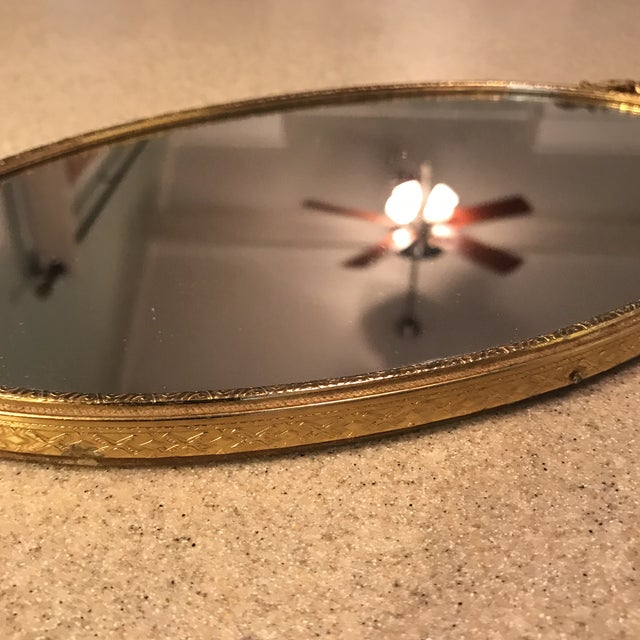 Ormolu Gold Mirrored Vanity Tray - Image 8 of 11