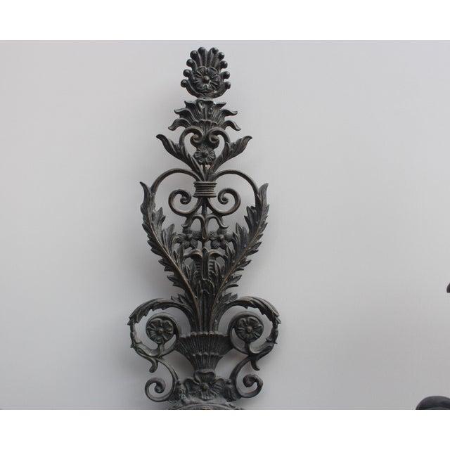 European Metal Wall Sconces - Set of Three - Image 4 of 7