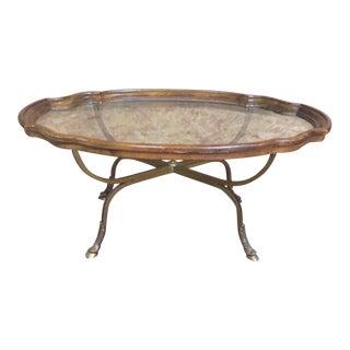 Jansen Style Oak & Iron Coffee Table