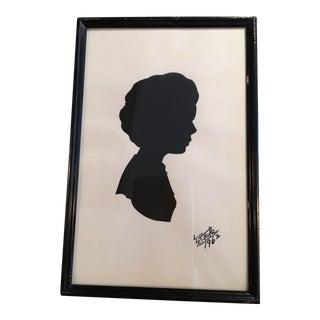 Framed Vintage Silhouette of Girl