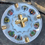 Image of Vintage Ansbach German Crest Gold Ash Tray