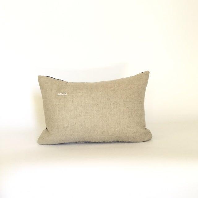 Vintage African Striped Indigo Batik Pillow - Image 4 of 4