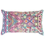 Image of Colorful Red Handwoven Guatemalan Pillow