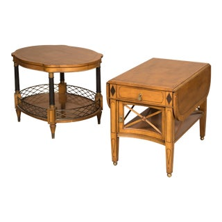 Empire Fruitwood End Tables - A Pair