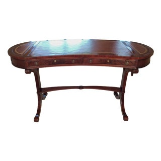 Vintage Kidney-Shaped Mahogany Writing Desk