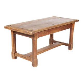 Antique Monestary-Style Oak Coffee Table