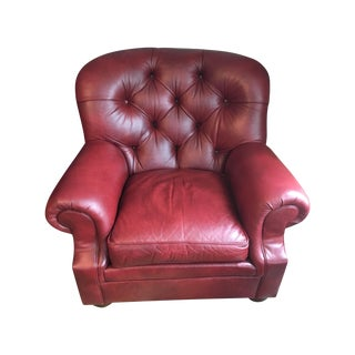 Ethan Allen Leather Sydney Chair