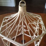 Image of Vintage Rattan Wicker Birdcage