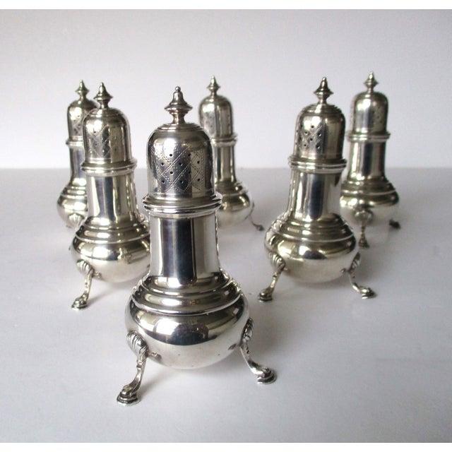 Antique Sterling Salt & Pepper Shakers - Set of 6 - Image 4 of 9