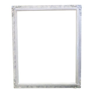 Antique Silver Tone Wood Picture Frame