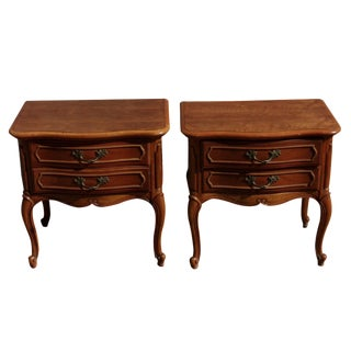 Vintage Provincial Style Nightstands - A Pair