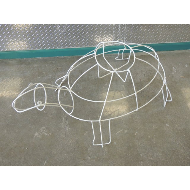 Monumental Outdoor Wire Turtle Planter - Image 3 of 4