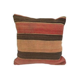 Vintage Striped Turkish Kilim Pillow