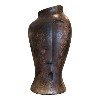 Abstract Modernist Asymmetrical Face Vase