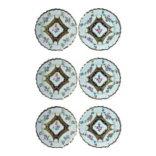 Chelsea Porcelain Set of Six Dessert Plates, 18th-century.