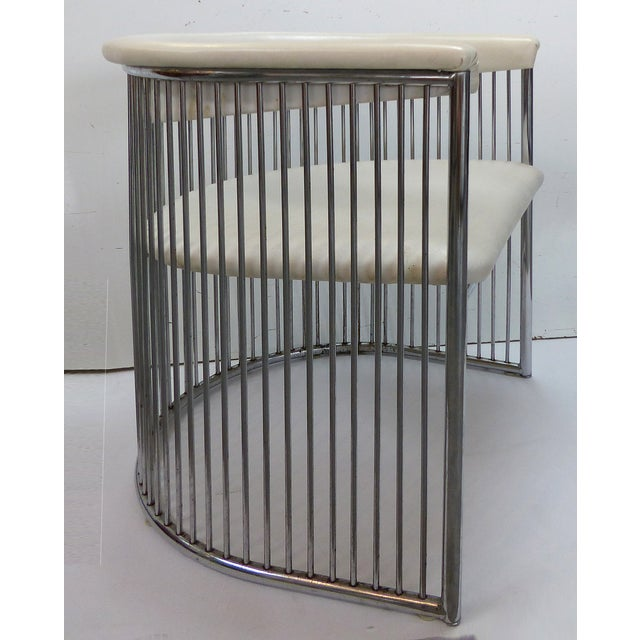Mid-Century Chrome Barrel Chairs - A Pair - Image 2 of 9