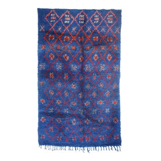 "Vintage Zayane Moroccan Rug, 5'10"" x 9'10"" feet"