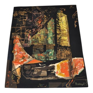 """Nocturne"" Abstract Wool Tapestry"
