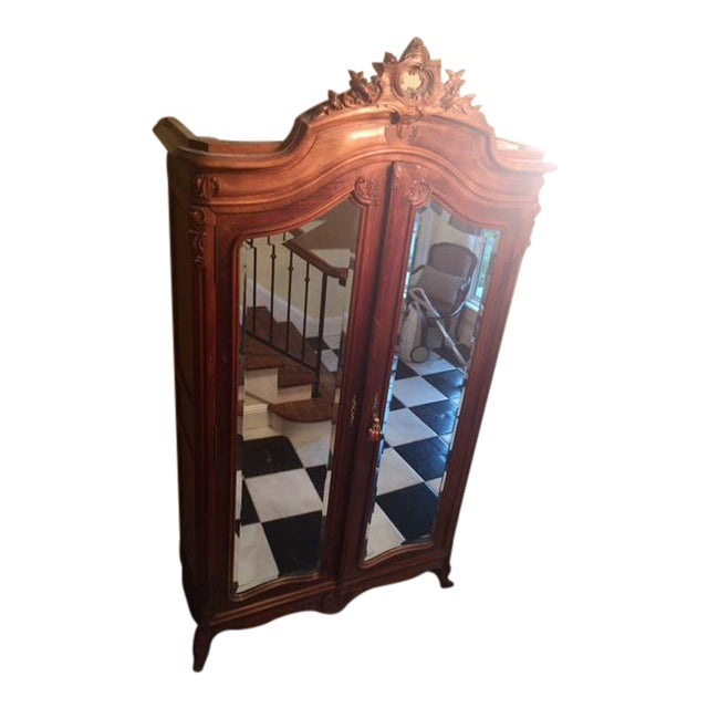 louis xvi antique armoire chairish. Black Bedroom Furniture Sets. Home Design Ideas