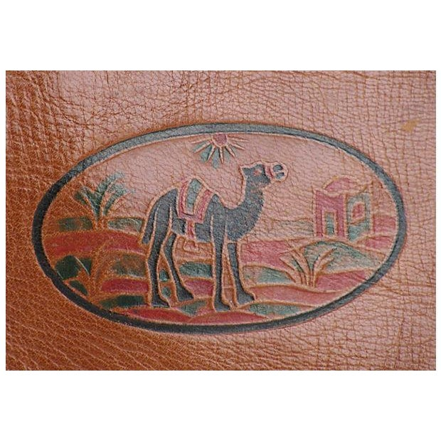 Vintage French Handcrafted Leather Satchel - Image 5 of 9